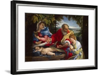 Rest on the Flight into Egypt with Saint Justina, 1529-Lorenzo Lotto-Framed Giclee Print