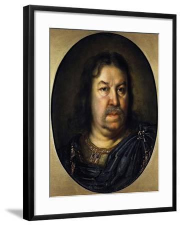 Portrait of Senator Prince Yakov Fyodorovich Dolgorukov, (1639-172), 1687-Charles Le Brun-Framed Giclee Print