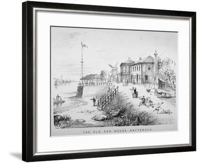 View of the Red House Inn on the Banks of the River Thames, Battersea, London, 1850--Framed Giclee Print