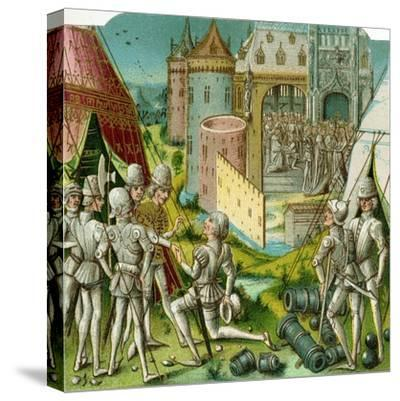 The Marriage of Margrave Sigismund of Brandenburg to Mary of Hungary, Late 15th Century-Loyset Li?det-Stretched Canvas Print