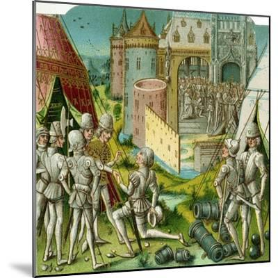 The Marriage of Margrave Sigismund of Brandenburg to Mary of Hungary, Late 15th Century-Loyset Li?det-Mounted Giclee Print