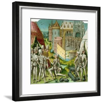 The Marriage of Margrave Sigismund of Brandenburg to Mary of Hungary, Late 15th Century-Loyset Li?det-Framed Giclee Print