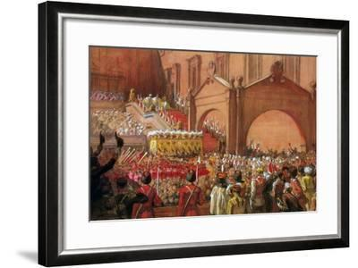 Emperor Nicholas II on the Red Porch after His Coronation, 1896-Albert Gustaf Aristides Edelfelt-Framed Giclee Print