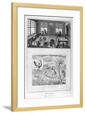 Mosaic Makers, 1751-1777--Framed Giclee Print