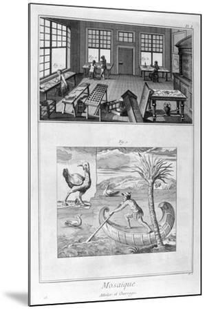 Mosaic Makers, 1751-1777--Mounted Giclee Print