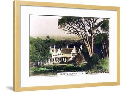 Groote Schuur House, Cape Town, South Africa, C1920S--Framed Giclee Print