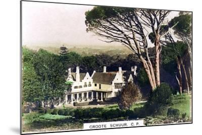Groote Schuur House, Cape Town, South Africa, C1920S--Mounted Giclee Print