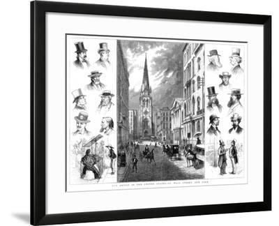 American Businessmen and Wall Street, New York, USA, 1877--Framed Giclee Print