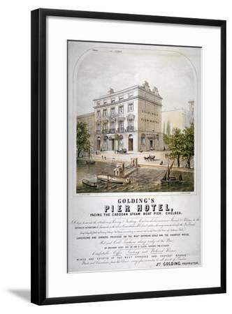 Advertisement for Goldings Pier Hotel, Chelsea, London, C1860--Framed Giclee Print