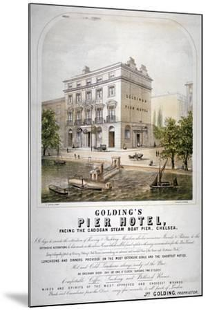 Advertisement for Goldings Pier Hotel, Chelsea, London, C1860--Mounted Giclee Print