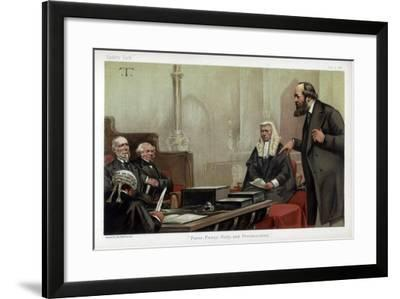 Purse, Pussy, Piety, and Prevarication, 1882--Framed Giclee Print