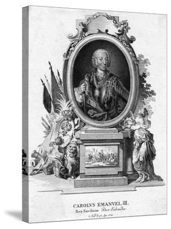 Charles Emmanuel III of Sardinia, Duke of Savoy and King of Sardinia, (1701-177)--Stretched Canvas Print