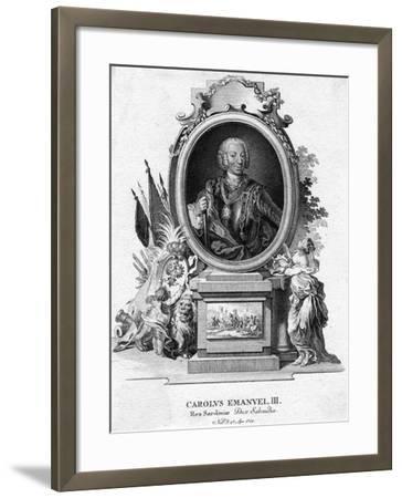 Charles Emmanuel III of Sardinia, Duke of Savoy and King of Sardinia, (1701-177)--Framed Giclee Print