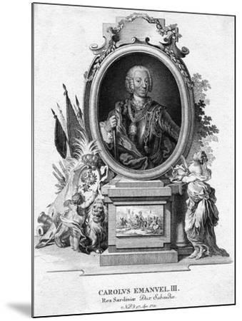 Charles Emmanuel III of Sardinia, Duke of Savoy and King of Sardinia, (1701-177)--Mounted Giclee Print