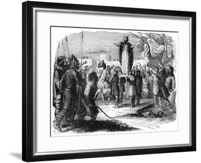 King of the Franks Being Carried on a Shield, 1882-1884--Framed Giclee Print
