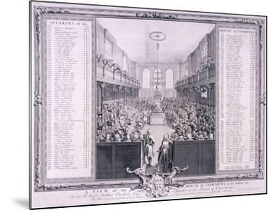 House of Commons, Palace of Westminster, London, 1785-John Pine-Mounted Giclee Print