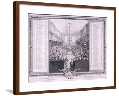 House of Commons, Palace of Westminster, London, 1785-John Pine-Framed Giclee Print