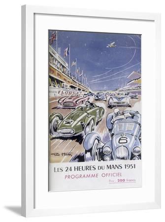Programme for Le Mans 24 Hours, 1951--Framed Giclee Print