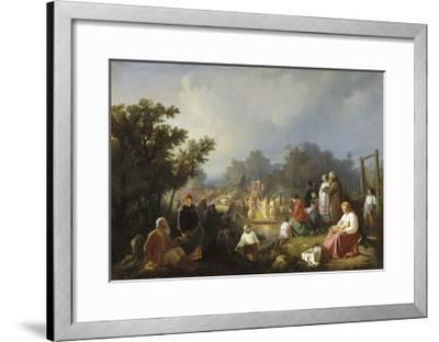 The Blessing of Waters in a Country Village, 1858-Ivan Petrovich Trutnew-Framed Giclee Print