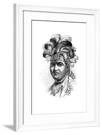 Thayendaneega, a Mohawk Chief, 1848--Framed Giclee Print