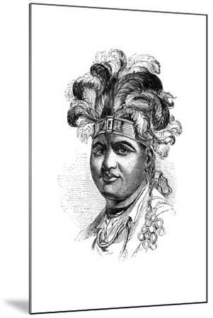 Thayendaneega, a Mohawk Chief, 1848--Mounted Giclee Print