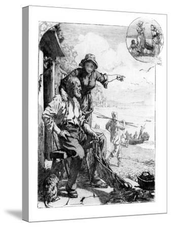 The Fisher Folk's Harvest, Mackerel in the Bay, Sketch in South Devon, 1882--Stretched Canvas Print