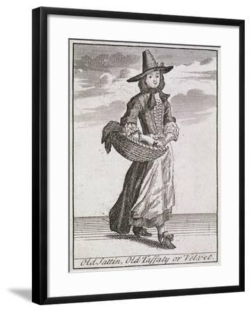 Old Sattin, Old Taffaty or Velvet, Cries of London-Marcellus Laroon-Framed Giclee Print
