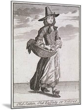 Old Sattin, Old Taffaty or Velvet, Cries of London-Marcellus Laroon-Mounted Giclee Print