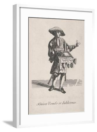 Knives Combs or Inkhornes, Cries of London, C1688-Marcellus Laroon-Framed Giclee Print