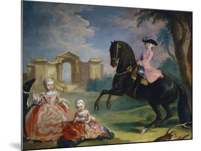 Portrait of the Children of Count Ivan Illarionovich Vorontsov: Artemi, Anna and Eudokia, 1754-Georg Kaspar von Prenner-Mounted Giclee Print