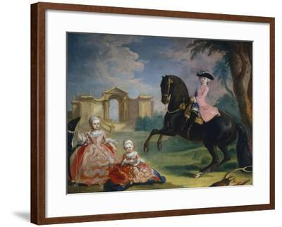 Portrait of the Children of Count Ivan Illarionovich Vorontsov: Artemi, Anna and Eudokia, 1754-Georg Kaspar von Prenner-Framed Giclee Print
