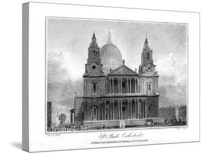 St Paul's Cathedral, London, 1804- Reeve-Stretched Canvas Print