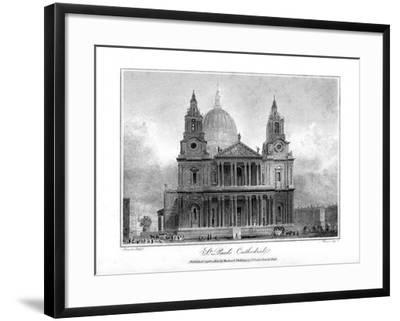 St Paul's Cathedral, London, 1804- Reeve-Framed Giclee Print