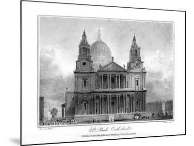 St Paul's Cathedral, London, 1804- Reeve-Mounted Giclee Print