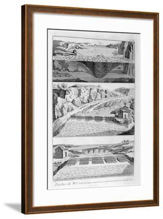 Salmon Fishing, 1751-1777--Framed Giclee Print