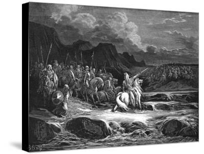 Judas Maccabaeus Leading Jewish Army into Battle--Stretched Canvas Print