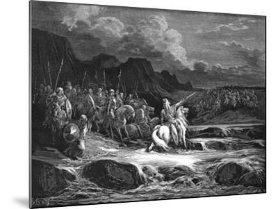 Judas Maccabaeus Leading Jewish Army into Battle--Mounted Giclee Print