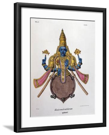 Vishnu, One of the Gods of the Hindu Trinity (Trimurt), 1828--Framed Giclee Print