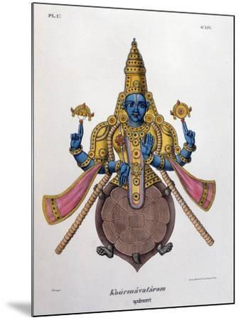 Vishnu, One of the Gods of the Hindu Trinity (Trimurt), 1828--Mounted Giclee Print