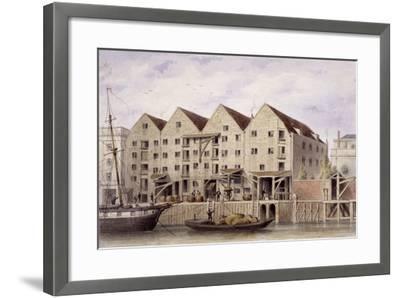 View of Chamberlain's Wharf, Tooley Street, Bermondsey, London, 1846-Thomas Hosmer Shepherd-Framed Giclee Print
