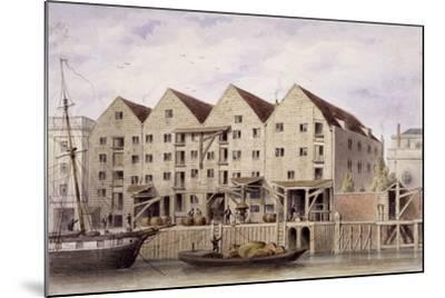 View of Chamberlain's Wharf, Tooley Street, Bermondsey, London, 1846-Thomas Hosmer Shepherd-Mounted Giclee Print