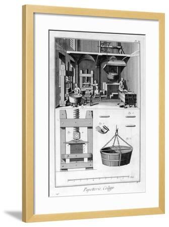 Paper Making, 1751-1777--Framed Giclee Print