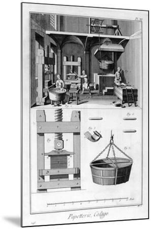 Paper Making, 1751-1777--Mounted Giclee Print