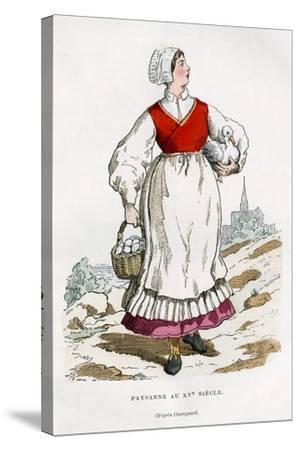 Peasant Woman, 15th Century (1882-188)-Chevignard Chevignard-Stretched Canvas Print