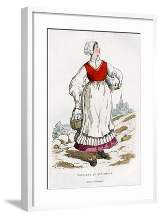 Peasant Woman, 15th Century (1882-188)-Chevignard Chevignard-Framed Giclee Print