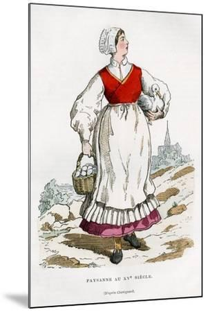 Peasant Woman, 15th Century (1882-188)-Chevignard Chevignard-Mounted Giclee Print