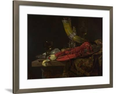 Still Life with the Drinking-Horn of the Saint Sebastian Archers' Guild, Lobster and Glasses-Willem Kalf-Framed Giclee Print