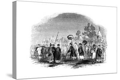 The Annual Spring Festival, 1847-Evans-Stretched Canvas Print