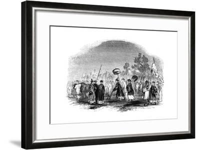 The Annual Spring Festival, 1847-Evans-Framed Giclee Print