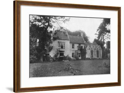 Alfred Lord Tennyson's Birthplace, Somersby, Lincolnshire, 1924-1926-Valentine & Sons-Framed Giclee Print
